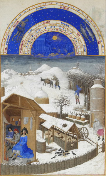 Click to see the detail in this miniature from the Duc du Berry's 'Tres Riches Heures'