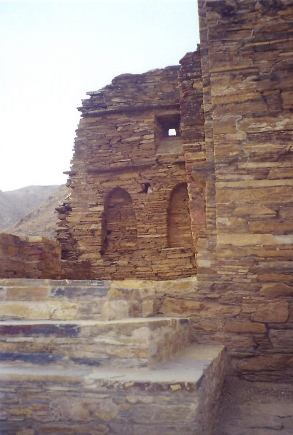 Takht Bhai (throne-water, the throne is the mountain peak it sits upon, water is that mountain's freshwater spring) Buddhist monastery built & used from sometime after the Buddha's death & the 5th century. Important Gandhara sculpture was unearthed here.