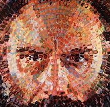 Detail from a self-portrait by Chuck Close