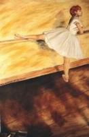 Painting, oil on canvas- Degas- Dancer