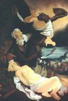 Painting, oil on canvas- Rembrandt Van Rijn. Abraham sacrificing his son.