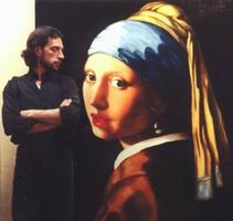 Painting, oil on canvas- Vermeer- Girl with the pearl earring.