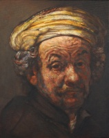 Rembrandt as St Paul. Oils on panel 10 x 8 inches