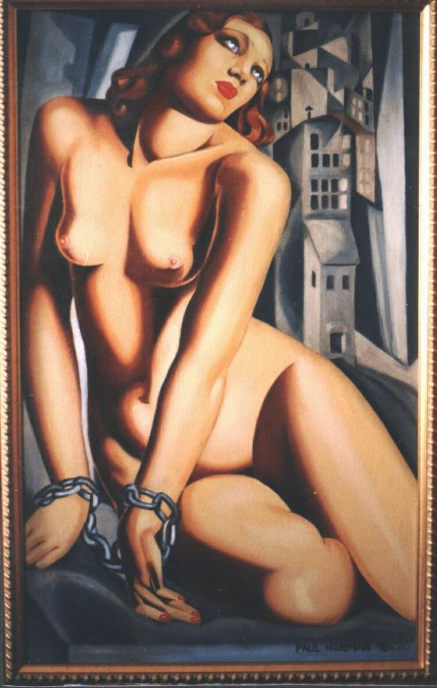 Copy, Tamara de Lempicka. Andromeda. Oil on canvas.