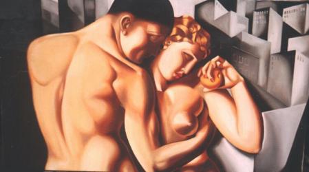 Lempicka Adam And Eve Painting of Adam Amp Eve in