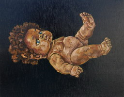 Abandoned Doll- oils on wooden panel 8 x 10 inches