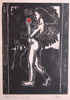 Eve, woodblock print- chestnut, 1/20