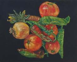 Fruits & vegetables- oils on panel 8 x 10 inches