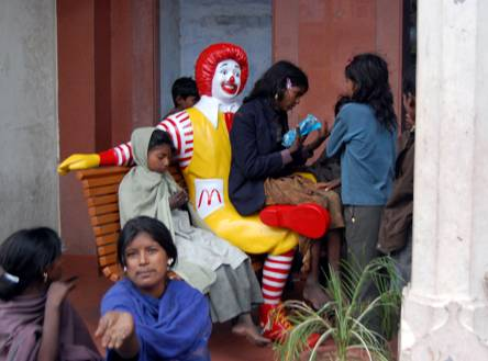 Ronald & the street urchins