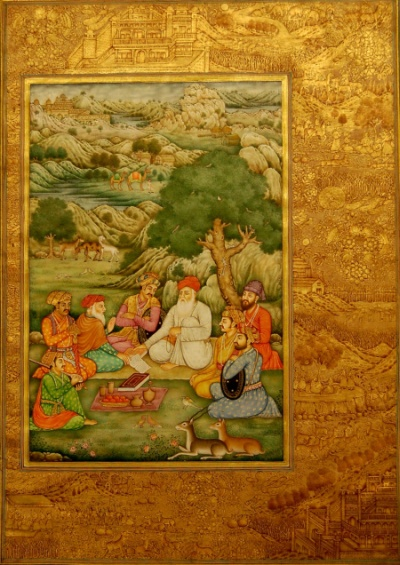Mughal miniature- click for enlargement in new window