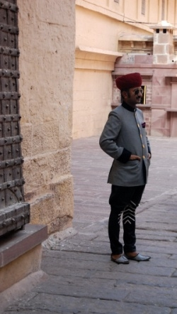 A Jodhpurian dressed in the original Jodhpurs imported by the English as riding breeches