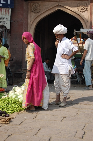 Rajasthani couple at the market
