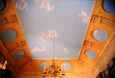 Ceiling in the formal dining room.