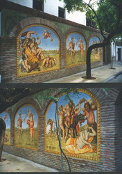 Outdoor mural of a Saturnalia.