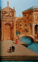 Detail 3 of Canaletto mural