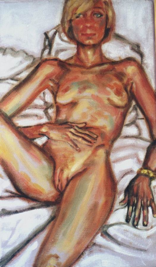 Nude, oil on canvas. Laura.