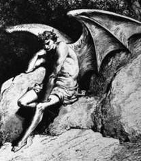 One of Dore's engravings of Lucifer for 'Paradise Lost'