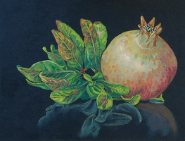 Pomegranate II- Oils on panel 8 x 10 inches