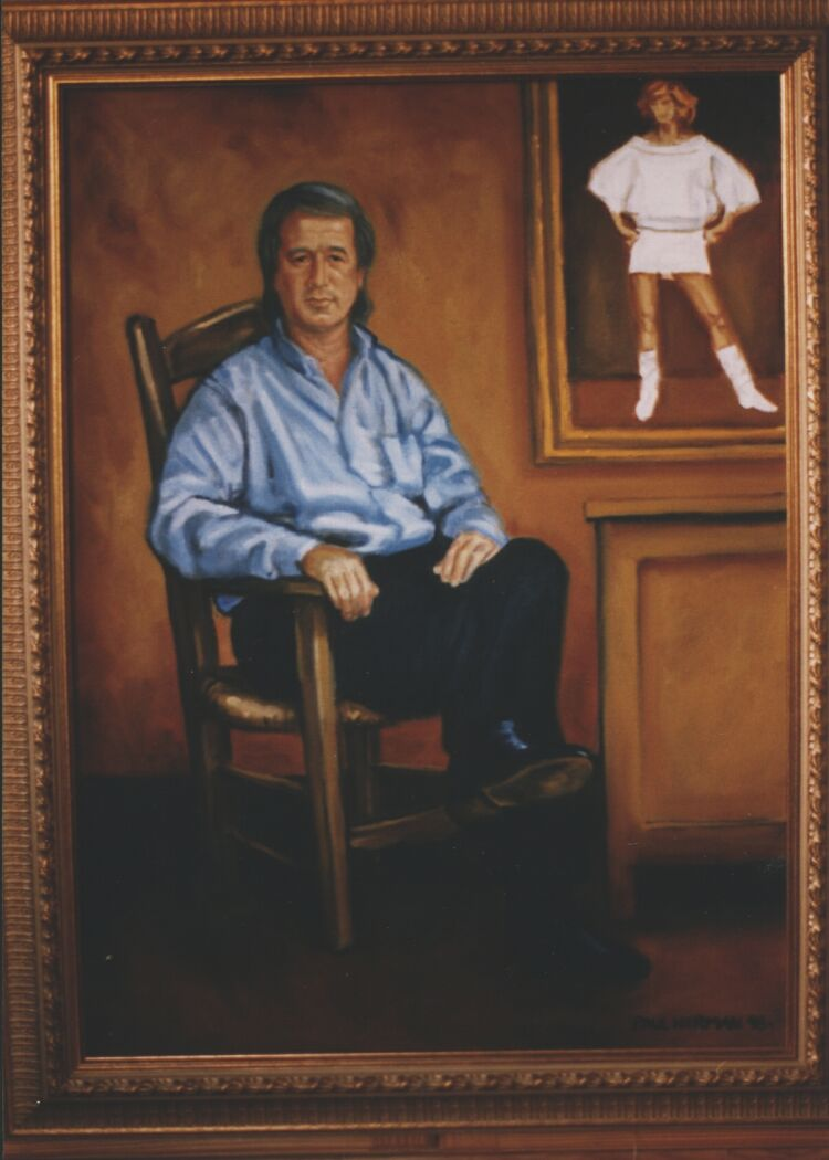 Portrait: Oil on canvas. Maurice Boland 100cm x 60cm (40in x 24in)