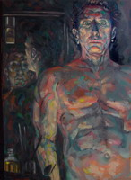 Painting, oil on canvas- Self portrait 2549