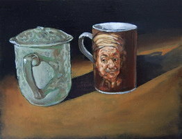Rembrandt's Mug Oils on panel 8 x 10 inches