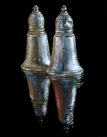 Silver Salt & pepper shakers- Oils on panel 10 x 8 inches