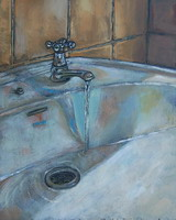 Sink- Oils on panel 10 x 8 inches
