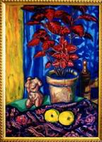 Painting, oil on canvas, Still life 1. 65 x 40 cm