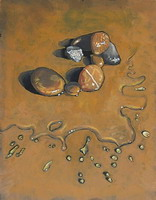 Wet Stones Oils on panel 10 x 8 inches