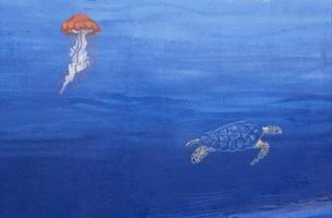 Detail-jellyfish & turtle.