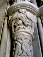 Detail of carved column