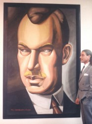Tamara de Lempicka: Oil on canvas. Baron Kuffner, Tamara's second husband. One of 7 commissioned by Saks Fifth Avenue in New York City.
