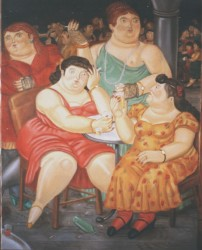 Painting, oils on canvas. Botero. 110 x 90 cm (43 x 35 in)