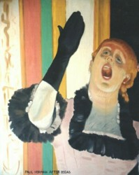 Painting, oils on canvas. Degas, singer. 1 of 6 paintings commissioned by Saks Fifth Avenue in Beverly Hills