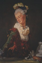 Painting, oils on canvas. Fragonard.  110 x 70 (43 x 27 in)