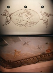 Ceiling mural for the Southern California home of the Thompsons, founders of Herbalife