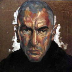 Self portrait 2004 Oils on gold leaf ground on panel