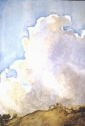 Oils on panel. Clouds over Galaroza  56cm x 30cm (22 x 12 in)