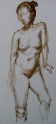 Oil study on panel III