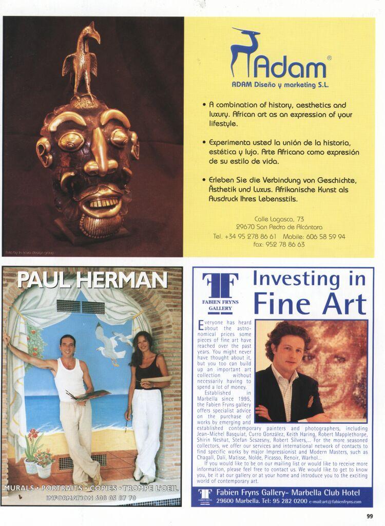 Essencial magazine, advertisement july, 99