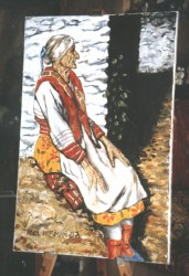 The gypsy, Federica. Pitres, Las Alpujarras. Oils on canvas