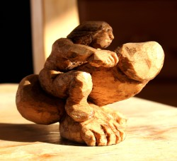 Carved Balsa wood 3 inches tall, 4 inches long (7 x 10 cm)