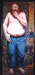 John Zeuffle, life size. Oils on canvas mounted on board