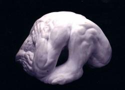 Marble figure, side 30 x 60 x 30 cm.