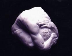 Marble figure, front 30 x 60 x 30 cm.