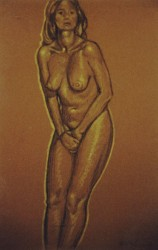 Conte crayons on pastel paper. Nude-2. 65 x 50 cm (26 x 20 in)