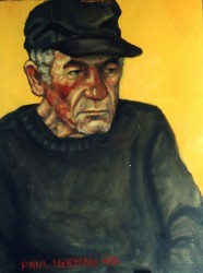 Raymond, homeless in L.A Oils on canvas
