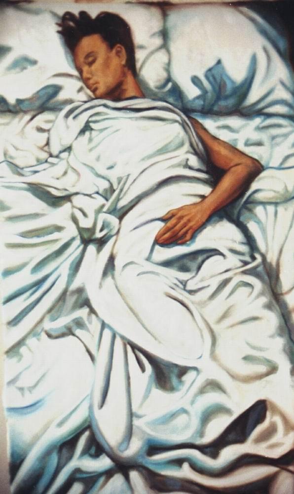 Regina sleeping, L.A.