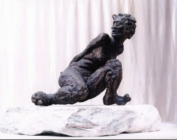 Slave, sculpture in bronze  44cm x 50cm x 41cm (18in x 20in x 16in).