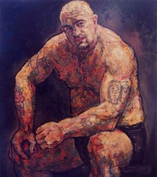 Bob, the Welsh rugby player. Oils on canvas.